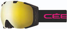 Очки горнолыжные CEBE 2018-19 ORIGINS M Mat Black Pink Yellow Flash Mirror Cat.1