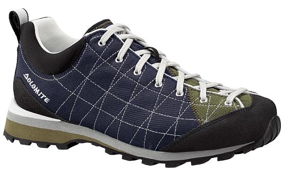 Купить Ботинки для хайкинга (высокие) Dolomite 2017-18 Diagonal Lite Blue Navy/Army Green, Треккинговые кроссовки, 1331791