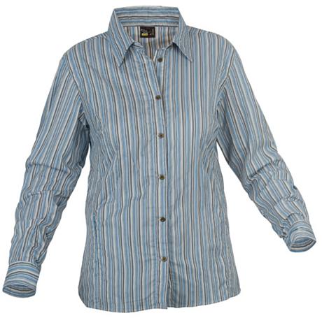 Купить Рубашка для активного отдыха Salewa 5 Continents LUTEA DRY W L/S SRT pin n. blue pleaded Одежда туристическая 547114