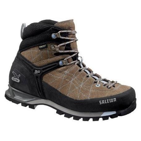 Купить Ботинки для альпинизма Salewa Alpine Approach Womens WS MTN TRAINER MID GTX laguna-waterfall Треккинговая обувь 896464