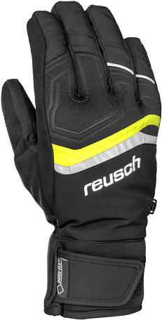 Купить Перчатки горные REUSCH 2014-15 SKI PISTE MAN Linus GTX black / neon yellow Перчатки, варежки 1142424