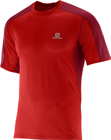 Футболка беговая SALOMON 2016 TRAIL RUNNER TEE M MATADOR-X/VI