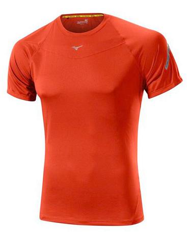 Купить Футболка беговая Mizuno 2014 DryLite Performance tee оранж Одежда для бега и фитнеса 1139437