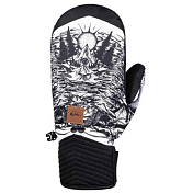 Варежки Quiksilver 2018-19 METHOD MITT M WHITE_SNOW MISTERY GLOVE