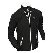 Куртка беговая Bjorn Daehlie Jacket AMBITION PRO Black/Snow White (черный/белый)