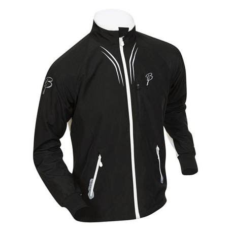 Купить Куртка беговая Bjorn Daehlie Jacket AMBITION PRO Black/Snow White (черный/белый) Одежда лыжная 775249