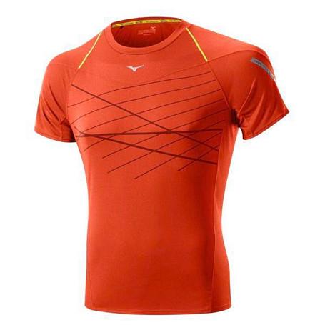 Купить Футболка беговая Mizuno 2014 DryLite Cooltouch Tee оранж, Одежда для бега и фитнеса, 1139422