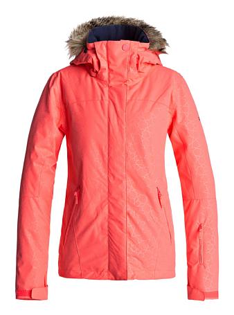 Купить Куртка сноубордическая ROXY 2017-18 JET SKI SOL JK J SNJT NKN3 NEON GRAPEFRUIT_GANA EMBOSS, Одежда сноубордическая, 1360458