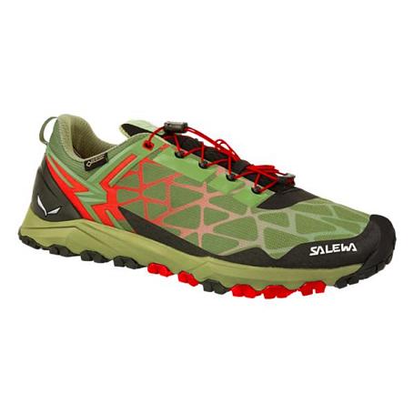 Купить Треккинговые кроссовки Salewa 2017 MS MULTI TRACK GTX Oil Green/Fluo Coral Треккинговая обувь 1330044