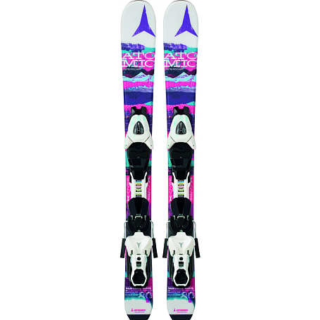 Купить Горные лыжи с креплениями ATOMIC 2014-15 Junior&Kids VANTAGE GIRL I & XTE 045 white/pink, лыжи, 1140254