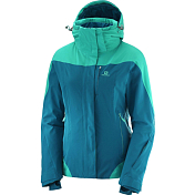 Куртка горнолыжная Salomon 2018-19 ICEROCKET JKT W Deep Lagoon/Waterfall