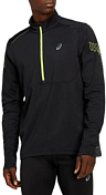 Куртка беговая Asics 2020-21 Lite-Show Winter 1/2 Zip Top Performance Black/Graphite Grey