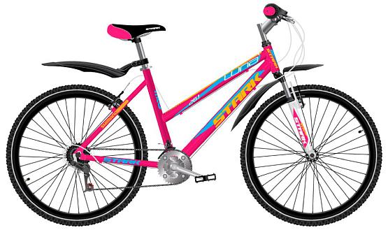 Купить Велосипед Stark Luna 26.1 V 2017 Розово-Желтый, Горные, 1317828