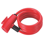 Замок велосипедный BBB QuickSafe 8mm x 1500mm coil cable red красный