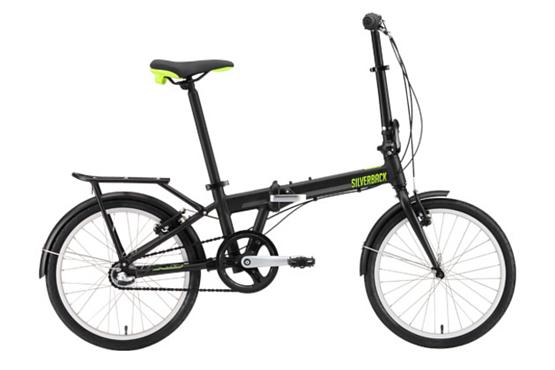 Купить Велосипед Silverback SOTO 2016 Черный/Зеленый/Серебристый / Черный/Зеленый/Серебристый, Складные велосипеды, 1250090