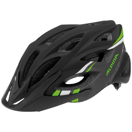 Купить Летний шлем Alpina TOUR Skid 2.0 L.E. black-darkgrey-green Шлемы велосипедные 1180001