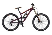 ВелосипедДвухподвесы<br>Двухподвесный велосипед Scott Voltage FR 720 2016. Велосипед оснащён алюминиевой рамой. Установлены воздушно-масляная вилка Rock Shox Domain Dual Crown R 27.5 200mm travel / Coil / Reb adj. 20mm Maxle / steel steerer, дисковые гидравлические тормоза, а также профессиональное оборудование. Scott Voltage FR 720 2016<br><br>Характеристики<br><br>Рама: Voltage FR Alloy 6061 Hydroformed tubing ISCG &amp; ISCG05 tabs / headtube for 1.5 Dropout 135x12mm thru axle 190mm travel<br>Вилка: Marzocchi 380 CR 27.5 Coil, 20mm Maxle<br>Задний амортизатор: FOX VAN R Coil / Rebound adj. custom tuned / 240x76mm spring rates S 300 / M 350 / L 400<br>Вес всего велосипеда: 17.2 кг<br>Манетки: SRAM X5 / Trigger Shifter<br>Передний переключатель: E.thirteen LS-1 ISCG05 / w/Taco<br>Задний переключатель: SRAM X7 / short cage / 9 Speed<br>Шатуны: Truvativ Hussefelt1.0 36 T chainring / 165mm<br>Каретка: Truvativ Howitzer XR / Shell 73mm<br>Кассета: SRAM PG-950 / 11-28 T<br>Цепь: SRAM CN-PC-951<br>Педали: Wellgo B155U SCT / flat / w/replaceable pins<br>Обода: Syncros MD25 27.5 Disc / 32H<br>Спицы: DT Swiss Industry / black<br>Bтулка: Formula DHL-92 / 110x20mm / thru axle<br>Покрышка: Magic Mary 27.5x2.35 Performance<br>Передний тормоз: Shimano Deore BR-M615 Disc 203mm / SM-RT66L Rotor<br>Задний тормоз: Shimano Deore BR-M615 Disc 203mm / SM-RT66L Rotor<br>Руль: Syncros FR1.5 35mm / 780mm / 20mm Rise Syncros Pro DH dual lock-on grips<br>Вынос: Syncros DH1.5 35mm / Direct Mount 42-47mm ext.<br>Рулевая колонка: FSA Orbit E 1.5R Alloy cups / 1.5 Reducer to 1 1/8 / semi-integrated ID 49.6mm / OD 55mm<br>Седло: Syncros FR2.5 / Steel Rails<br>Подседельный штырь: Syncros FR2.0 / 31.6mm / zero offset<br><br><br><br><br><br><br><br><br><br><br><br>Пол: Унисекс<br>Возраст: Взрослый