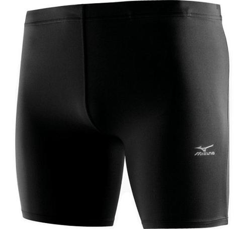 Купить Тайтсы короткие беговые Mizuno 2013 DryLite Mid Tights Black, Одежда для бега и фитнеса, 901839