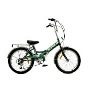 """ВелосипедСкладные велосипеды<br>Диаметр колес: 24<br>Размер рамы: 16""""<br>Рама &amp;#40;материал&amp;#41;: алюминий<br>Количество скоростей: 1<br>Вилка передняя: стальная<br>Рулевая колонка: сталь<br>Каретка: сталь<br>Система: PROWHEEL, сталь, 40T<br>Втулка передняя: KT, сталь<br>Втулка задняя: KT, сталь<br>Трещотка: -<br>Звездочка: 18T<br>Задний переключатель скоростей: -<br>Шифтеры: -<br>Тормоза: задний ножной<br>Обода: алюминий, двойные<br>Покрышки: KENDA, 24&amp;#39;&amp;#39;x1.95<br>Крылья: нержавеющая сталь<br>Педали: пластик/сталь<br>Седло: Cionlli<br>Багажник: стальной с зажимом<br>Дополнительно: зеркало, насос, звонок<br><br>Пол: Унисекс<br>Возраст: Взрослый"""