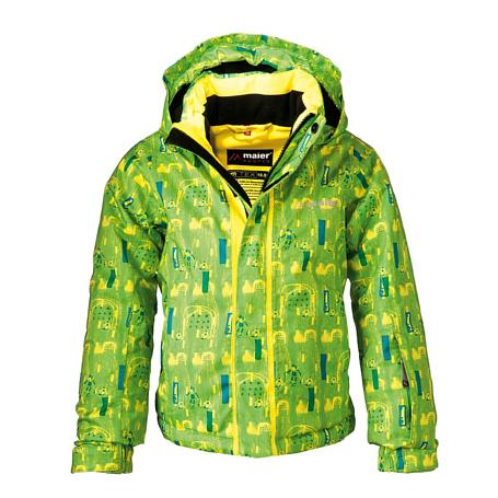 Купить Куртка горнолыжная MAIER 2013-14 03--06 Slalom green yellow allover (светло-зелёный) Детская одежда 1022054