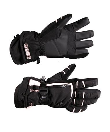 Купить Перчатки горные GLANCE Fusion (black/white) черный/белый, Перчатки, варежки, 789959