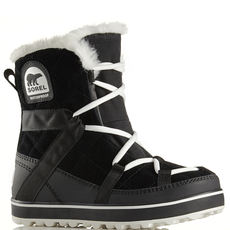 Купить Ботинки городские (средние) Sorel 2017-18 GLACY EXPLORER SHORTIE Black, Обувь для города, 1362976
