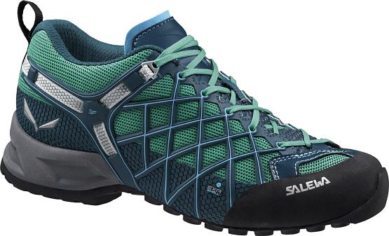 Купить Ботинки для треккинга (низкие) Salewa 2017 WS WILDFIRE S GTX Cypress/River Blue, Треккинговые кроссовки, 1205670