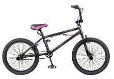 ВелосипедBMX<br>Надежный BMX велосипед, предназначенный для акробатических трюков и езды по городу. Благодаря гироротору, велосипед позволяет вращать руль вокруг оси на 360 градусов. Наличие 4 пегов значительно расширяет возможности велосипеда при выполнении трюков. Широкие покрышки 20x2,125, 48 спицы и односоставные шатуны позволяют велосипеду выдерживать серьезные нагрузки и сохранять достаточную упругость для совершения прыжков. Два клещевых тормоза - классически надежное решение для велосипедов BMX. <br> <br> Рама: hi-ten steel (стальная)<br> Вилка: Rigid hi-ten steel (жесткая, стальная)<br> Размер колёс: 20<br> Количество скоростей: 1<br> Тип тормозов: U-brake (клещевые) с гироротором<br> Система: 1 звезда, шатуны односоставные <br> Педали: алюминиевые Ободья: 20 48 спиц, алюминиевые<br> Втулки: сталь, 48 спиц, 4 пега Покрышки: 20x2.125<br> Подседельный штырь: стальной<br> Руль: стальной<br> Кассета: 1 скорость<br> Передний переключатель: нет<br> Задний переключатель: нет<br> Манетки: нет<br>Вес велосипеда: 14,6 кг<br><br>Пол: Унисекс<br>Возраст: Взрослый