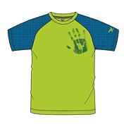 Футболка для активного отдыхаОдежда для активного отдыха<br>Стильная и функциональная футболка с кубическим цветовым дизайном. Быстро сохнет и обеспечивает хорошую защиту от ультрафиолетовых лучей.<br>Активность: Свободное лазание, Спортивное скалолазание<br>Защитные функции &amp;#40;свойства&amp;#41;: защита от ультрафиолетовых лучей, быстросохнущий &amp;#40;из быстросохнущего материала&amp;#41;<br>Комфорт: практичный, хорошие антибактериальные свойства<br>Основной материал : Dryton Jersey Lite Silver 125/100%PL<br>Вставка : Dryton Jersey Bamboo Silver 130<br>Отделка : Polygiene