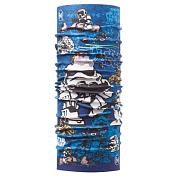 БанданаАксессуары Buff ®<br>Бесшовная бандана-труба из специальной серии Original BUFF®. Original BUFF® - самый популярный универсальный головной убор из всех серий. Сделан из микрофибры - защищает от ветра, пыли, влаги и ультрафиолета. Контролирует микроклимат в холодную и теплую погоду, отводит влагу. Ткань обработана ионами серебра, обеспечивающими длительный антибактериальный эффект и предотвращающими появление запаха. Допускается машинная и ручная стирка при 30-40°. Материал не теряет цвет и эластичность, не требует глажки. Original BUFF® можно носить на шее и на голове, как шейный платок, маску, бандану, шапку и подшлемник. Свойства материала позволяют использовать бандану Original BUFF® в любое время года, при занятиях любым видом спорта, активного отдыха, туризма или рыбалки.Состав: 100% полиэстер<br><br>Пол: Унисекс<br>Возраст: Детский<br>Вид: бандана