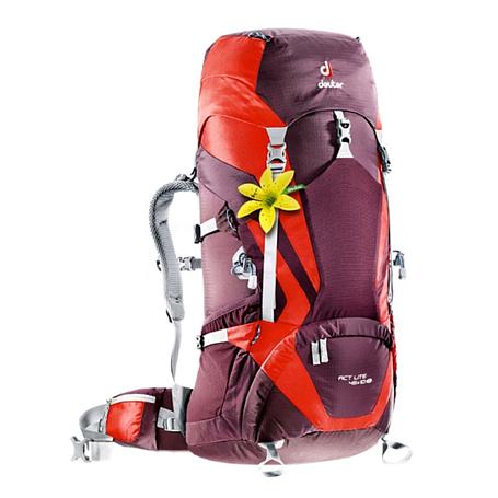 Купить Рюкзак Deuter 2017-18 ACT Lite 45 + 10 SL aubergine-fire Рюкзаки туристические 1147378
