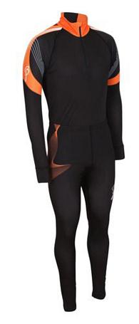 Купить Комплект беговой Bjorn Daehlie Race suit COMPETITION (Black/Orange Popsicle) черный/оранжевый, Одежда лыжная, 710210