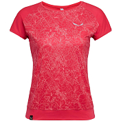 Футболка для активного отдыха Salewa 2019 Pedroc Print Dry W S/S Tee Rose red