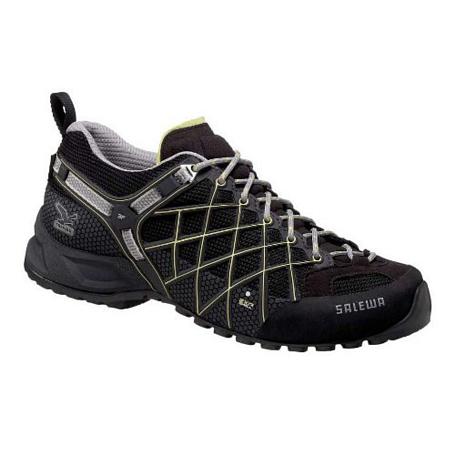 Купить Треккинговые кроссовки Salewa Tech Approach Womens WS WILD FIRE GTX black - sulphur Треккинговая обувь 896643