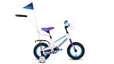 ВелосипедДо 6 лет (колеса 12-18)<br>Велосипед для комфортного катания в городе<br> <br> Особенности:<br> <br> - Комфортная посадка для прогулок по городу и за городом<br> - Top Tube: сечение верхней трубы<br> - Down Tube: сечение нижней трубы<br> <br> Технические характеристики:<br> <br> Страна производства: Россия<br> Вес: 10,2 кг<br> Рама<br> Материал/тип рамы: Сталь Hi-Ten<br> Амортизация<br> Тип амортизации: Жесткая вилка<br> Вилка: Жесткая стальная<br> Рулевой узел<br> Рулевая колонка: Резьбовая с ограничителем угла поворота<br> Вынос руля: Резьбовой стальной<br> Руль: Стальной, 22,2х460 мм<br> Регулируемая высота: Да<br> Тормозная система<br> Тип тормозов: Ножной тормоз<br> Трансмиссия<br> Количество скоростей: 1<br> Каретка: Golden Swallow, стальная<br> Система шатунов: Cтальная анодированная<br> Цепь: KMC C410<br> Колеса<br> Размер колес: 12<br> Втулки: Стальные анодированные<br> Материал и тип ободов: Стальные одностеночные<br> Обода: Крашеные<br> Покрышки: Forward, 12x2,125 (30tpi)<br> Дополнительно<br> Седло: MTB Kid<br> Крылья: Cтальные крашеные<br> Багажник: Стальной с зажимом крашеный<br> Возможность крепления багажника: Есть<br> Звонок: Есть<br> Корзина: Есть<br> Родительская ручка: Есть<br> Поддерживающие колеса: Есть<br>Передний и задний катафот: Есть
