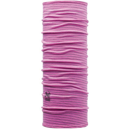 Бандана BUFF Wool BUFF Patterned & Dyed Stripes JUNIOR & CHILD WOOL BUFF ROZE