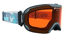Очки горнолыжныеОчки горнолыжные<br>Комфортная легкая горнолыжная маска, которая станет отличным выбором для катания в облачную погоду. Она защитит вас от яркого света, снега и сильного ветра. Линза маски абсолютно не пропускает коротковолновое ультрафиолетовое излучение, как раз то, которое наносит вред сетчатки глаз. При этом обеспечивает естественную светопередачу, высокую контрастность, а за счет правильной геометрии ? широкий угол обзора. В этой маске вы будете заблаговременно замечать коварные опасности склона и получать максимальное удовольствие от катания, но и от окружающей панорамы.<br>Оправа со стороны лица имеет слой вспененного материала, который, деформируясь, принимает форму лица. Таким образом, достигается плотное прилегание маски, равномерное давление и исключение болевых точек.<br>Вентиляционные отверстия в оправе обеспечивают циркуляцию воздуха, что предотвращает запотевание линзы.<br>Угол обзора более 180 градусов.<br>Ремешок крепится на подвижных шарнирах с внешней стороны рамы, благодаря чему маску гораздо удобнее использовать совместно со шлемом.<br>Специальное противоскользящее покрытие с внутренней поверхности ремешка, предотвращает соскальзывание со шлема