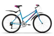 ВелосипедГорные спортивные<br>Женский велосипед Stark Karma 2015. Велосипед оснащён алюминиевой рамой. Установленны жесткая вилка STARK, ободные механические тормоза, а также начальное оборудование. Stark Karma 2015 прекрасно подойдёт для катания как в городе, так и по пересечённой местности.<br><br>Рама и амортизаторы<br><br>Рама: Alloy<br>Вилка: STARK<br><br>Цепная передача<br><br>Манетки: Shimano SL-RS35<br>Передний переключатель: Power FD-150<br>Задний переключатель: Shimano TY-21<br>Шатуны: 42/34/24<br>Кассета: SUNRACE MFMA2<br>Цепь: KMC Z33<br><br>Колеса<br><br>Обода: Alloy<br>Покрышка: Wanda 26*2.125<br><br>Компоненты<br><br>Передний тормоз: V-Brake<br>Задний тормоз: V-Brake<br>Производство: Разработка: Россия. Производство: КНР &amp;#40;Тайвань&amp;#41;.<br><br>Пол: Женский<br>Возраст: Взрослый