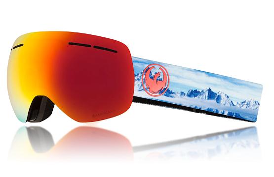 Купить Очки горнолыжные DRAGON 2017-18 X1s Red 1371707