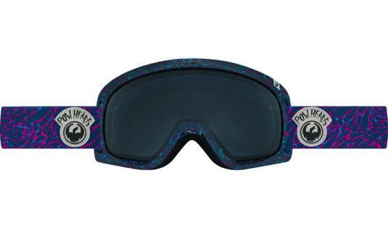 Купить Очки горнолыжные DRAGON 2016-17 D3 Pow Heads Red / Dark Smoke, горнолыжные, 1299446