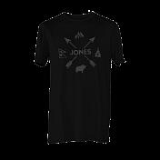 Футболка сноубордическая Jones 2015-16 AAROWS TEE PLAIN BLACK