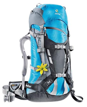 Купить Рюкзак Deuter 2015 Alpine Guide Tour 35+ SL turquoise-black Рюкзаки туристические 1072943