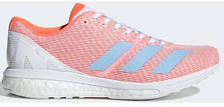 Марафонки Adidas 2019-20 Adizero Boston 8 W FTWR White/Glow Blue/Solar Orange