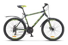ВелосипедКолеса 26 (стандарт)<br>Горный начальный велосипед Stels Navigator 610 MD 2016. Установленны вилка SR SUNTOUR XCT, ход 80мм, а также начальное оборудование. Stels Navigator 610 MD 2016 прекрасно подойдёт для катания как в городе, так и по пересечённой местности.<br><br>Рама и амортизаторы<br><br>Рама: алюминий<br>Вилка: SR SUNTOUR XCT, ход 80мм<br><br>Цепная передача<br><br>Манетки: SHIMANO Altus, ST-EF51<br>Передний переключатель: SHIMANO Tourney, FD-TZ31<br>Задний переключатель: SHIMANO Tourney, RD-TX35<br>Каретка: картридж<br>Количество скоростей: 21<br>Педали: пластик<br><br>Колеса<br><br>Обода: WEINMANN, алюминий двойные<br>Bтулка: KT, алюминий<br>Покрышка: CHAO YANG, 26x2.0<br><br>Компоненты<br><br>Передний тормоз: POWER, механический дисковый, ротор 160мм<br>Задний тормоз: POWER, механический дисковый, ротор 160мм<br>Рулевая колонка: сталь<br>Седло: Cionlli<br><br>Пол: Унисекс<br>Возраст: Взрослый