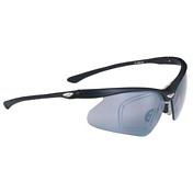 Очки солнцезащитныеОчки солнцезащитные<br>Возможность вставки диоптрий для велосипедистов, кто нуждается в диоптрийных линзах;<br>Материал оправы Rigid Grilamid с дужками из магниевого сплава;<br>Регулируемые носовая часть и резиновые дужки;<br>Сменные поликарбонатные линзы; 100% защита от ультрафиолета;<br>Поставляется с жестким чехлом; дополнительные жёлтые и прозрачные &amp;#40;clear&amp;#41; линзы;<br>