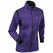 Куртка беговаяОдежда лыжная<br>Тренировочная куртка на молнии из материала Softshell с эластичной мембраной спереди и на рукавах защищает от воды и ветра.<br>Стрейтчевый вставки на спинке для свободы движений,<br>Ткань тянется в 4-х направлениях,<br>Отличные дышащие свойства,<br>Два кармана на молнии, два кармана без молний,<br>Светоотражающие вставки,<br>Вес: 580 гр.<br><br>Пол: Женский<br>Возраст: Взрослый<br>Вид: куртка