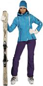 Куртка горнолыжнаяОдежда горнолыжная<br>Женская куртка из эластичной ткани, приталенная спортивного дизайна. Регулируемый капюшон с системой утяжек, молнии водонепроницаемые, внешняя защитная планка на магнитах, манжеты из лайкры с отверстием для большого пальца, снегозащитная юбка с нескользящей полосой, карманы.<br>Ткань: 4Way Stretch. Утеплитель: Primaloft. Мембрана: Dialight Sunny &amp;#40;20000mm/20000g/m?/24hr&amp;#41;<br><br>Пол: Женский<br>Возраст: Взрослый<br>Вид: куртка