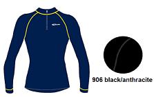 Футболка с длинным рукавом ACCAPI TECNOSOFT PLUS EQT LONGSL.T-SHIRTWITH40575ZIPMAN black/anthracite (черный/серый)