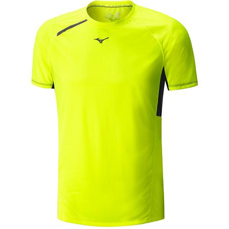 Купить Футболка беговая Mizuno 2016 Premium Aero Tee жёлтый, Одежда для бега и фитнеса, 1264813
