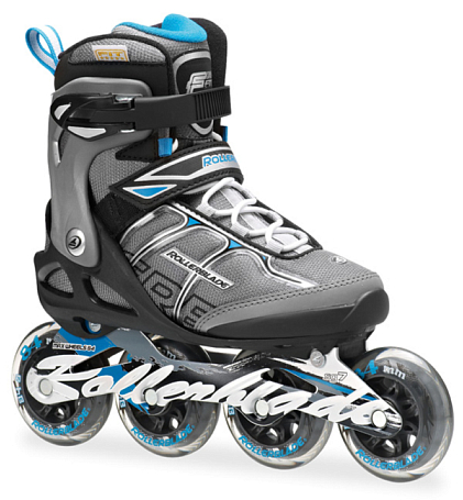 Роликовые коньки Rollerblade 2014 MACROBLADE 84 ALU W BLACK/LIGHT BLUE